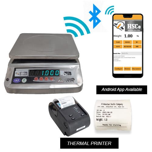 Bluetooth Scale with Printer